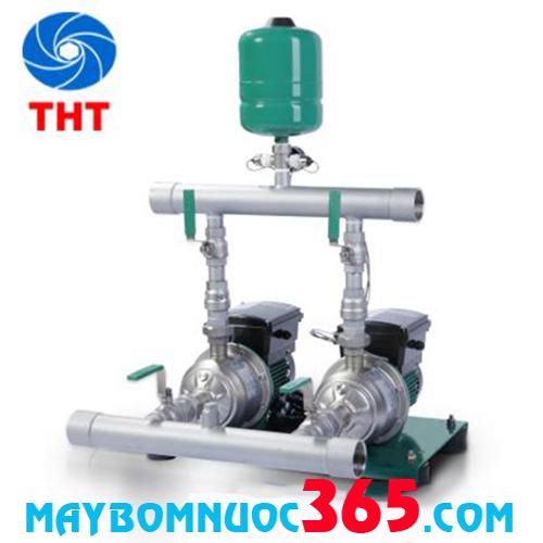 Cụm 2 bơm tăng áp tích hợp biến tần chịu nhiệt Wilo PBI-LD802EA 2*1.5KW